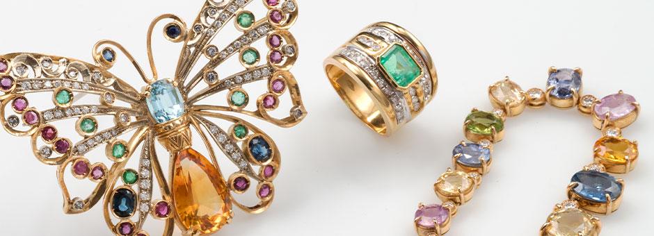 Calendar-Vintage, Jewels and Bijoux