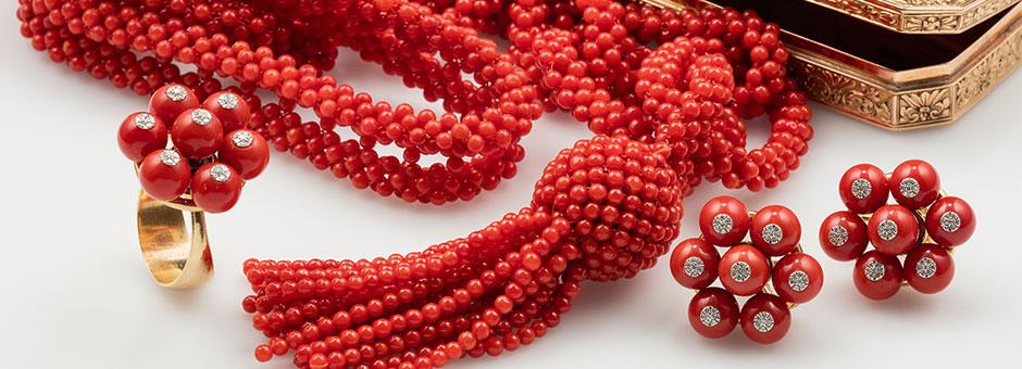 Fine Coral Jewels