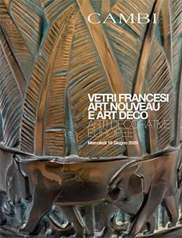 Verres Art Nouveau et Déco Français